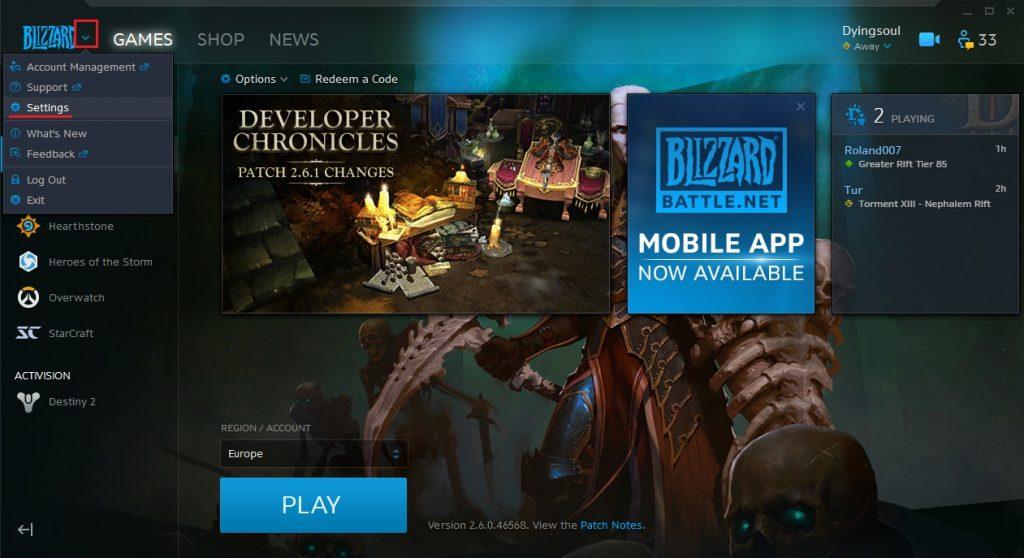 Blizzard App Beta 1