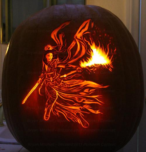 Diablo 3 Wizard Pumpkin