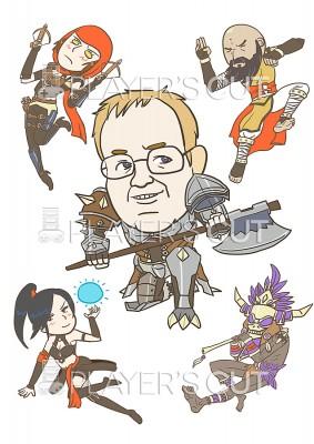 Jay Wilson Caricature