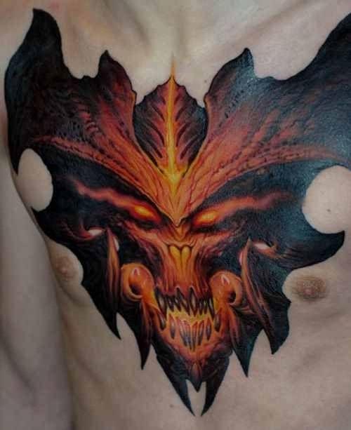 Diablo face tetoválás