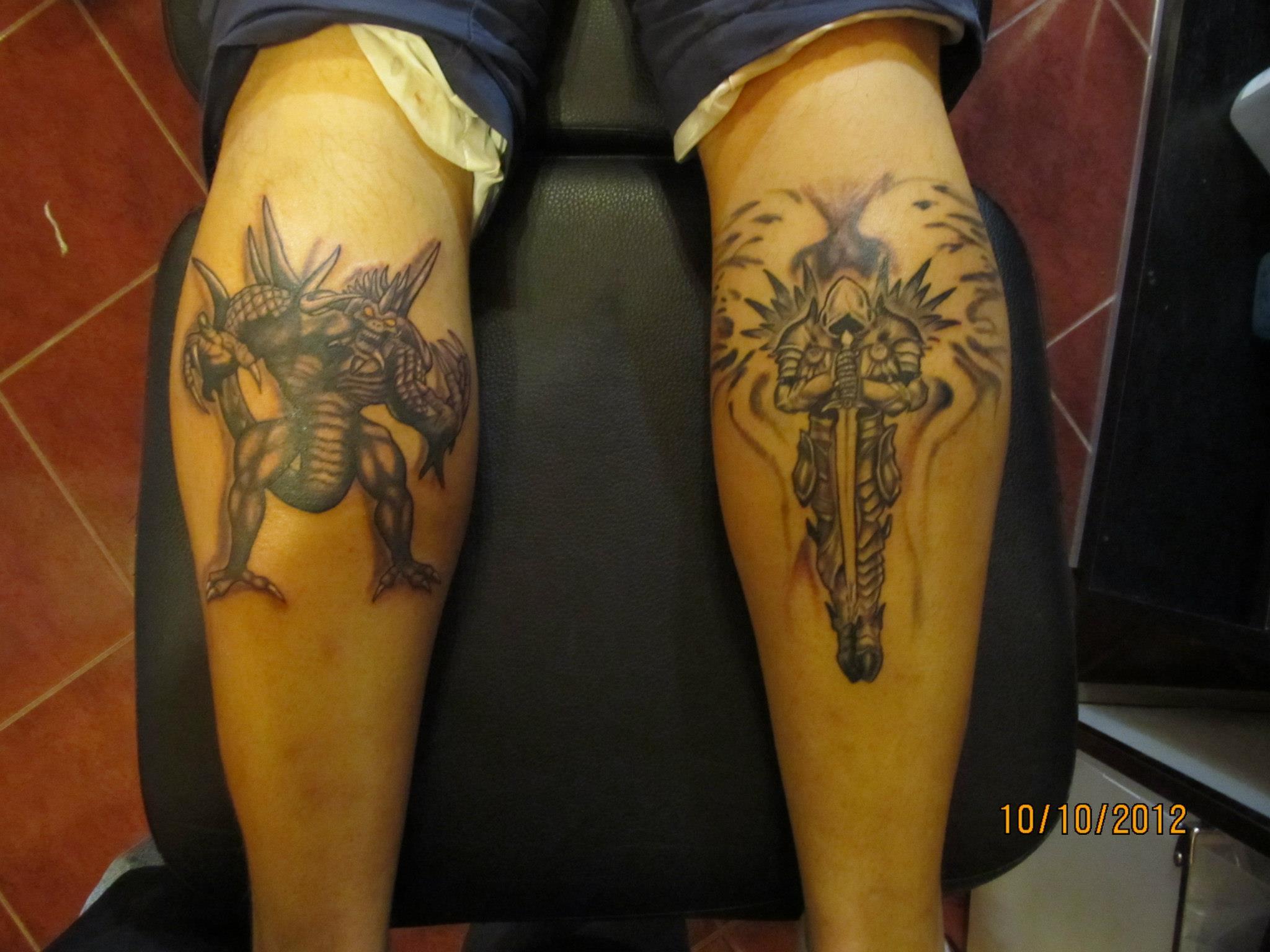 Diablo és Tyrael tetoválás