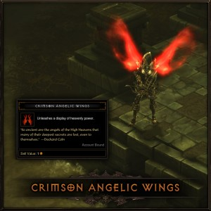Crimson Angelic Wings
