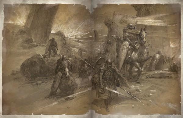 Rakkis hadserege egy győztes csata után (Book of Tyrael)