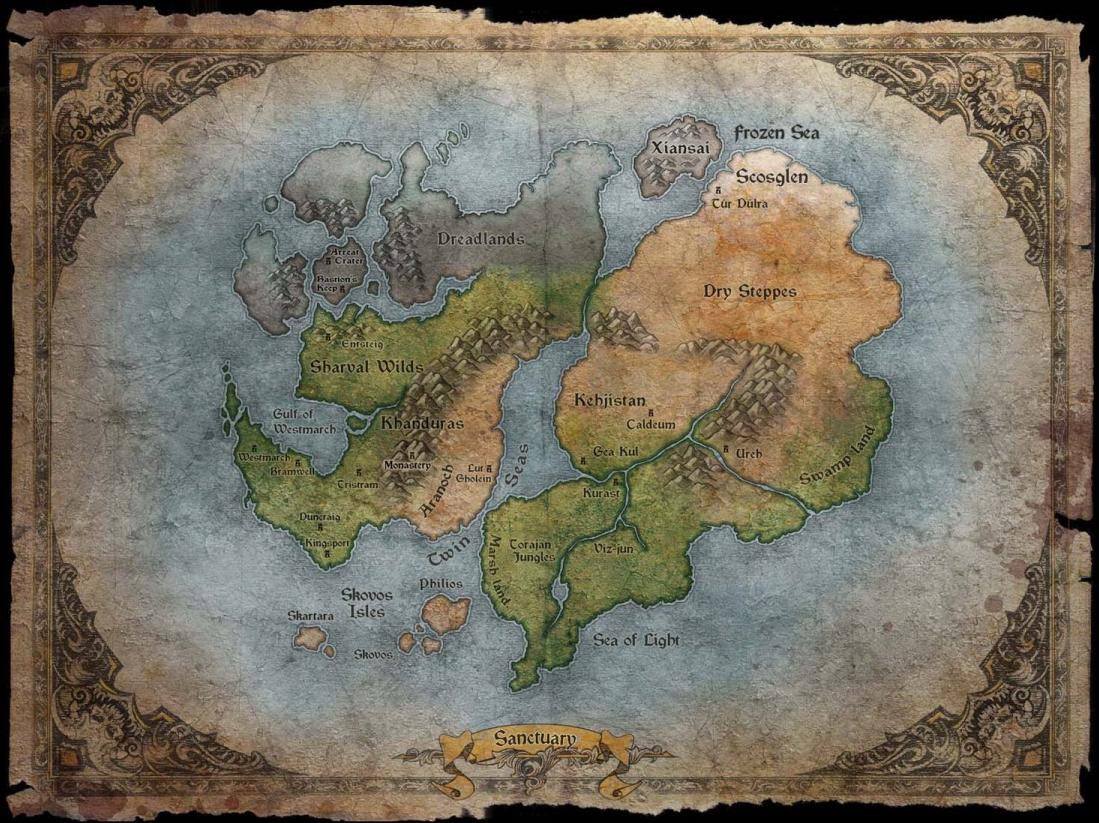 Sanctuary térképe
