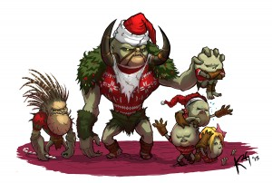 A Bog Family Holiday by Kevin K. Griffith, Senior Artist, Diablo III
