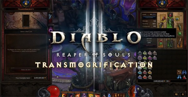 diablo 3 transmogification