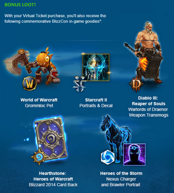 blizzcon ingame goodies