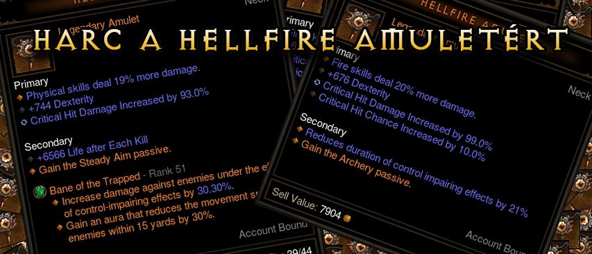 Harc a Hellfire Amuletért